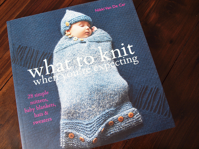 what to knit when youre expecting by nikki van de car